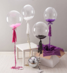 Шары с конфетти, декоративные и дизайнерские шары