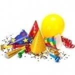 Свечи для торта, конфетти, мыльные пузыри, товары для праздника