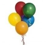 Воздушные шары, конфетти, свечи для торта