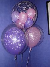 Шар в шаре (2 шт.) + шары в шаре (1 шт.)
