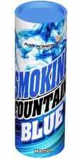 Фонтан дымовой синий