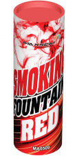 Фонтан дымовой красный