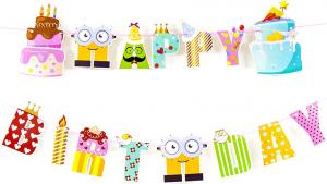 "Гирлянда-вымпелы ""Happy Birthday!"""