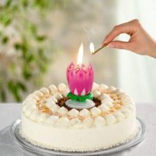 """Фонтан-свеча для торта музыкальная вращающаяся """"Цветок"""""""