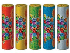 """Фонтаны """"Цветной супер-дым"""" (упаковка из 5 шт. ассорти)"""