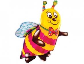 """Шар 14"""" на палочке """"Пчела"""""""