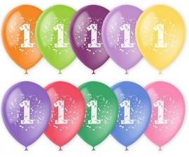 """Шар 12"""" с рисунком """"Цифра 1"""" (1 шт.)"""