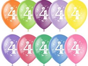 """Шар 12"""" с рисунком """"Цифра 4"""" (1 шт.)"""
