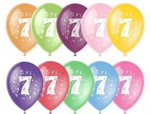 """Шар 12"""" с рисунком """"Цифра 7"""" (1 шт.)"""