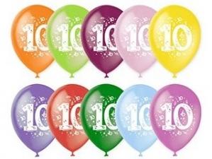 """Шар 12"""" с рисунком """"Цифра 10"""" (1 шт.)"""