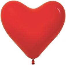 "Шар 15"" в форме сердца без рисунка"