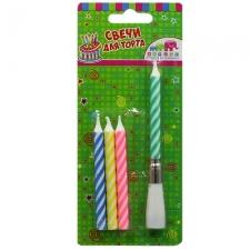 Свечи для торта  «Музыкальные» (упаковка из 4 шт.)