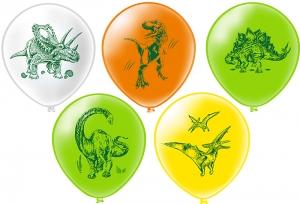 """Шар 12"""" с рисунком """"Динозавры"""" (1 шт.)"""