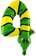 """Шар 17"""" «Цифра 4 (змея)»"""