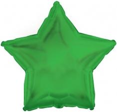 """Шар фольгированный 18"""" звезда «Металлик зеленый»"""