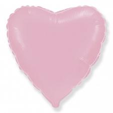 """Шар фольгированный 18"""" сердце «Металлик розовый»"""
