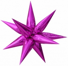 """Шар фольгированный 26"""" звезда 3D «Металлик пурпурный»"""